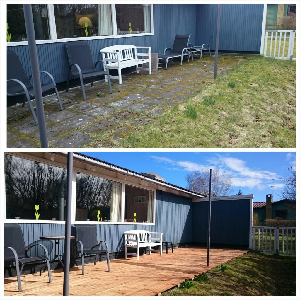 Terrasse før og efter